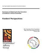 Developing and Retaining the Next Generation of Academics in African Universities. A Funders' Perspectives