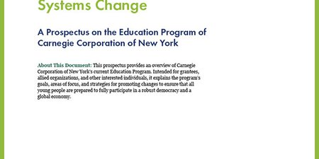 Transforming Education for  a Rapidly Changing World: Achieving Equity, Rigor, and Relevance through Human-Centered Systems Change