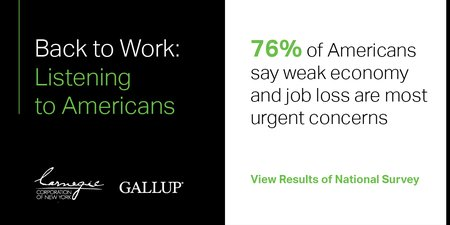 Jobs Recovery Is a Priority for Americans of Both Political Parties