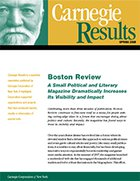 Boston Review: A Small Political and Literary Magazine Dramatically Increases Its Visibility and Impact
