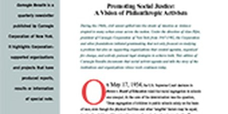 Promoting Social Justice: A Vision of Philanthropic Activism