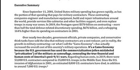 """The Growth of the """"Camo Economy"""" and the Commercialization of the Post-9/11 Wars"""