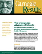 The Immigration Advocates Network: An Online Collaboration led by Pro Bono Net Provides Immigration- Related Resources