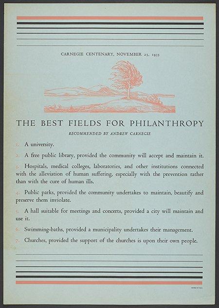 Andrew carnegie essay on wealth written in 1889