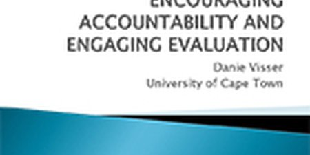Encouraging accountability and engaging evaluation