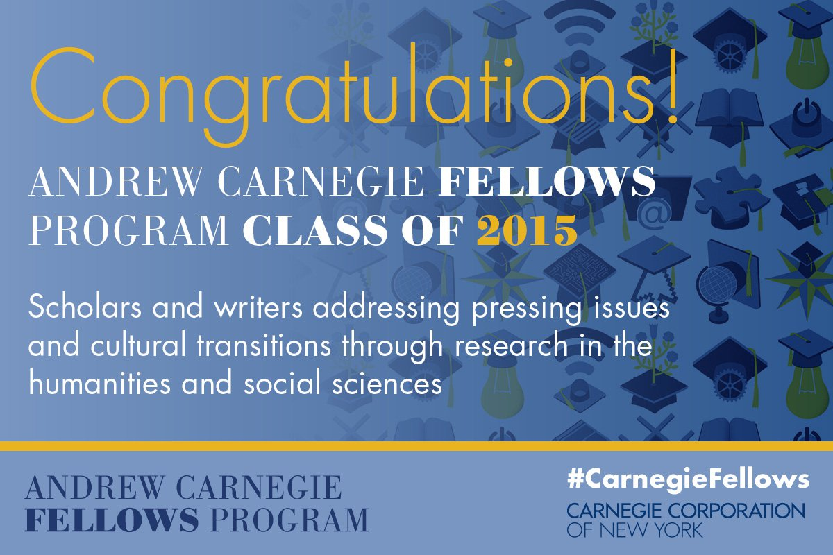 Andrew Carnegie Fellows Congratulations Banner
