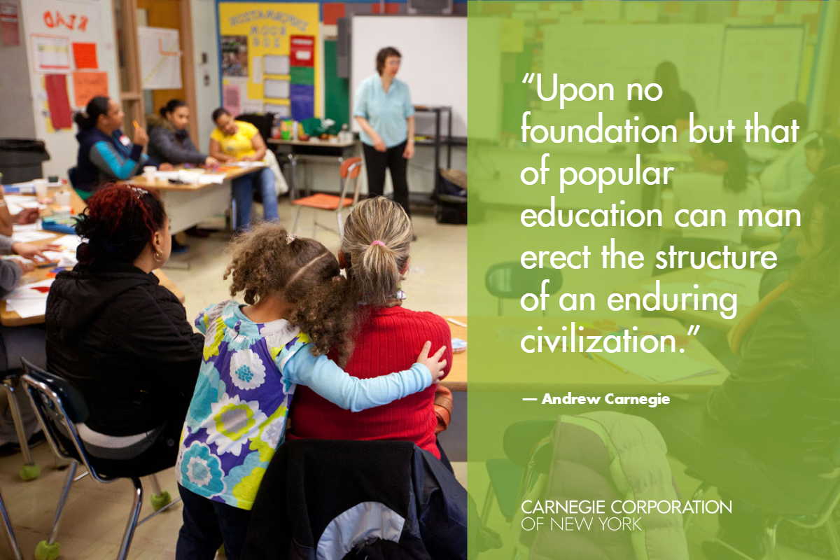 Carnegie Corporation Education Program Quote Card