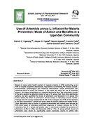 Use of Artemisia annua L. Infusion for Malaria Prevention