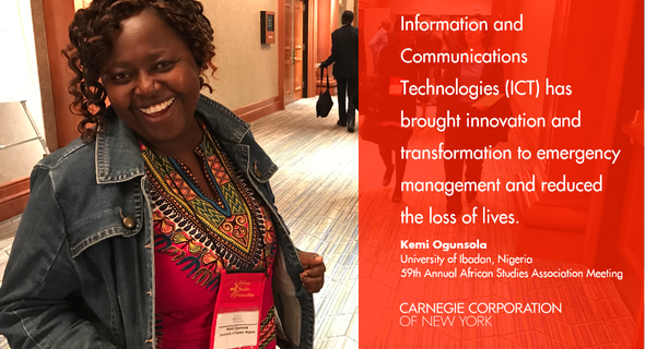 "Kemi Ogunsola (University of Ibadan) presented a paper entitled ""Use of Information and Communication Technologies for Inter-Agency Collaboration and Information Sharing in Emergency Management in Lagos, Nigeria."""