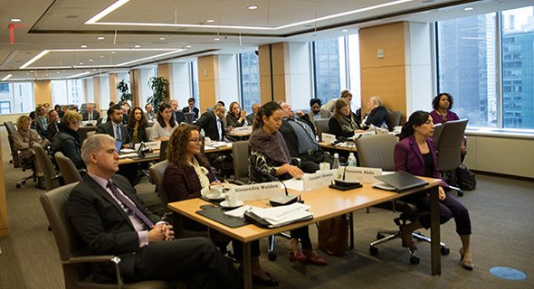 Experts and funders filled the Carnegie Corporation Board Room to talk about transnational movements.