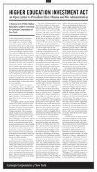 Higher Education Investment Act: An Open Letter to President-Elect Obama and His Administration