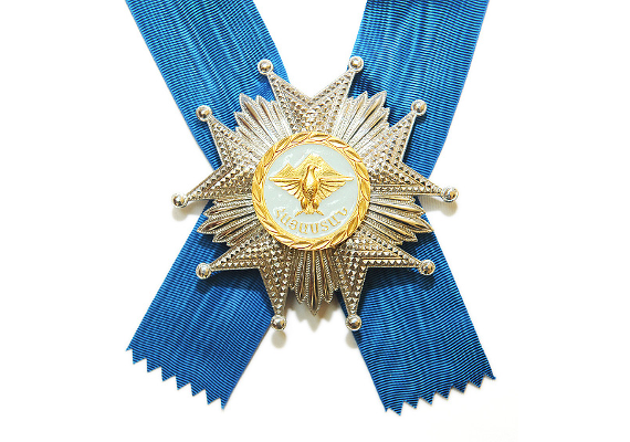 The Order of Honor is awarded for notable services in protecting state and national interests of the Republic of Armenia as well as for significant contributions to building, strengthening, and promoting friendship and reinforcing peace between peoples.