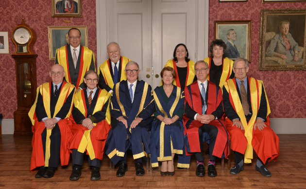 Picture of seven recipients of King's College honorary degrees