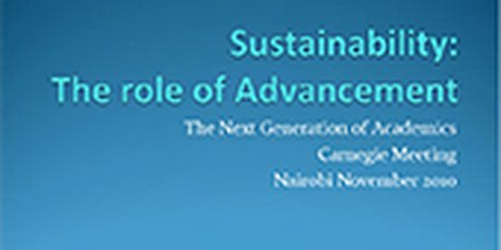 Sustainability: The role of Advancement