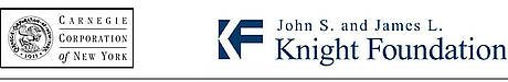 Carnegie Corporation logo, John S. and James L. Knight Foundation logo