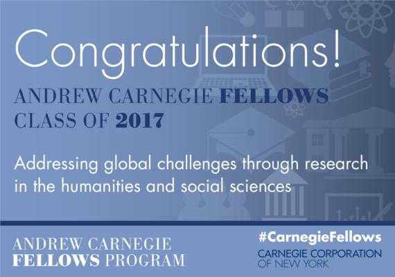 Andrew Carnegie Fellows Program Recognizes 35 Scholars