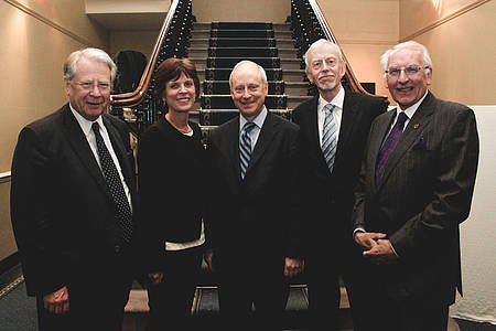 Sir David Edward, Louise Richardson, Michael Sandel, Andy Walker, Angus Hogg