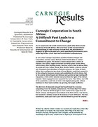 Carnegie Corporation in South Africa: A Difficult Past Leads to a Commitment to Change