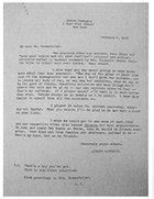 Letter to John D Rockefeller
