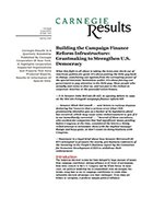 Building the Campaign Finance Reform Infrastructure: Grantmaking to Strengthen U.S. Democracy