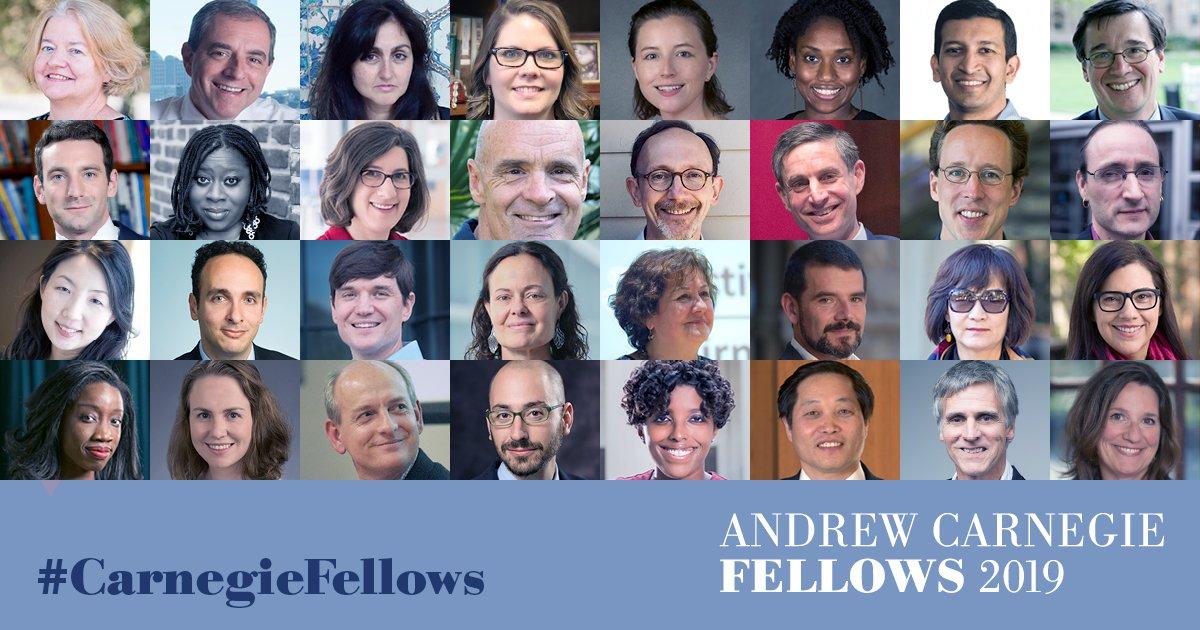 2019 Andrew Carnegie Fellows : Awards | Carnegie Corporation