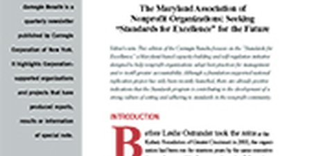 The Maryland Association of Nonprofit Organizations: Seeking Standards for Excellence for the Future