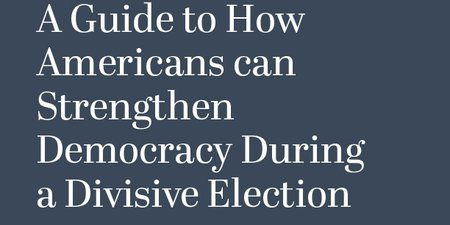 Democracy for President: A Guide to How Americans Can Strengthen Democracy During a Divisive Election