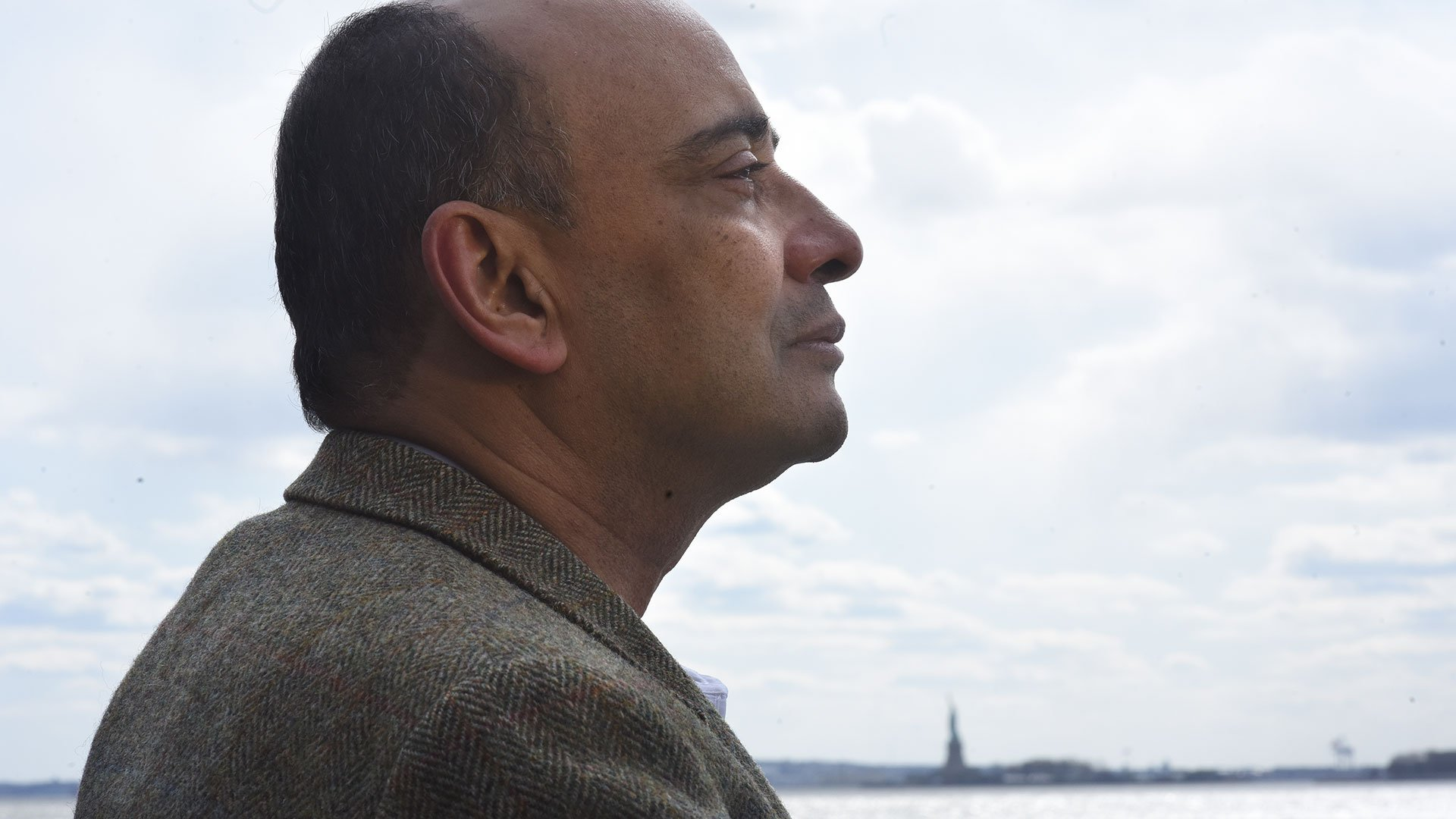 Kwame Anthony Appiah outside in New York City