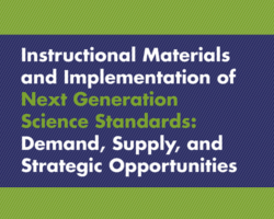 Supply and Demand of NGSS Instructional Materials