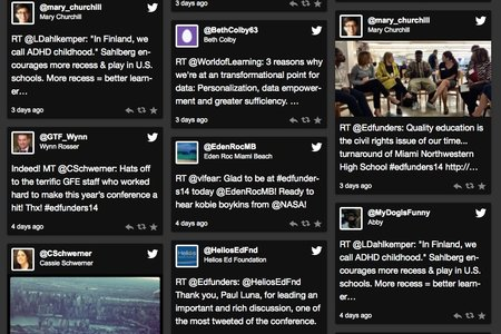 "An excerpt from the ""Social Wall"" from the Grantmakers for Education 2014 Annual Conference October 22-24 in Miami, Florida. Join the discussion on Twitter #edfunders14."