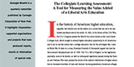 The Collegiate Learning Assessment: A Tool for Measuring the Value Added of a Liberal Arts Education