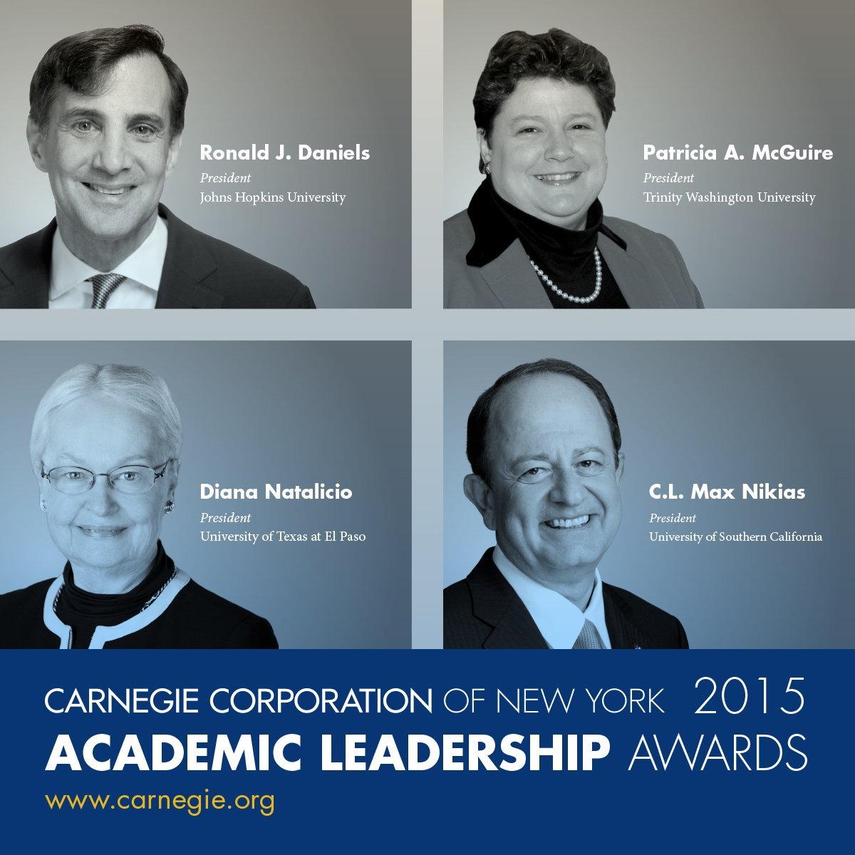 Academic Leadership Award Winners 2015