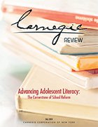 Advancing Adolescent Literacy: The Cornerstone of School Reform