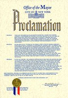 Proclamation: Carnegie Corporation of New York Centennial Day in New York City