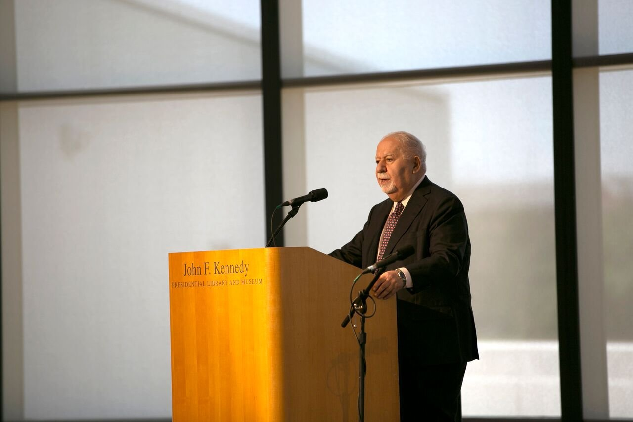 Vartan Gregorian at the John F. Kennedy Library in Boston, Massachusetts