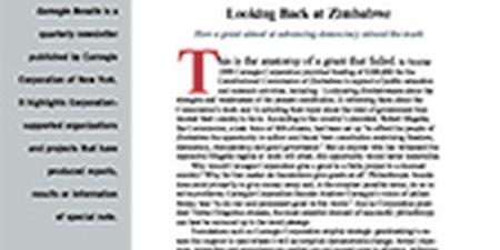 Looking Back at Zimbabwe