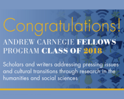 Carnegie Corporation of New York Names 31 Winners of Andrew